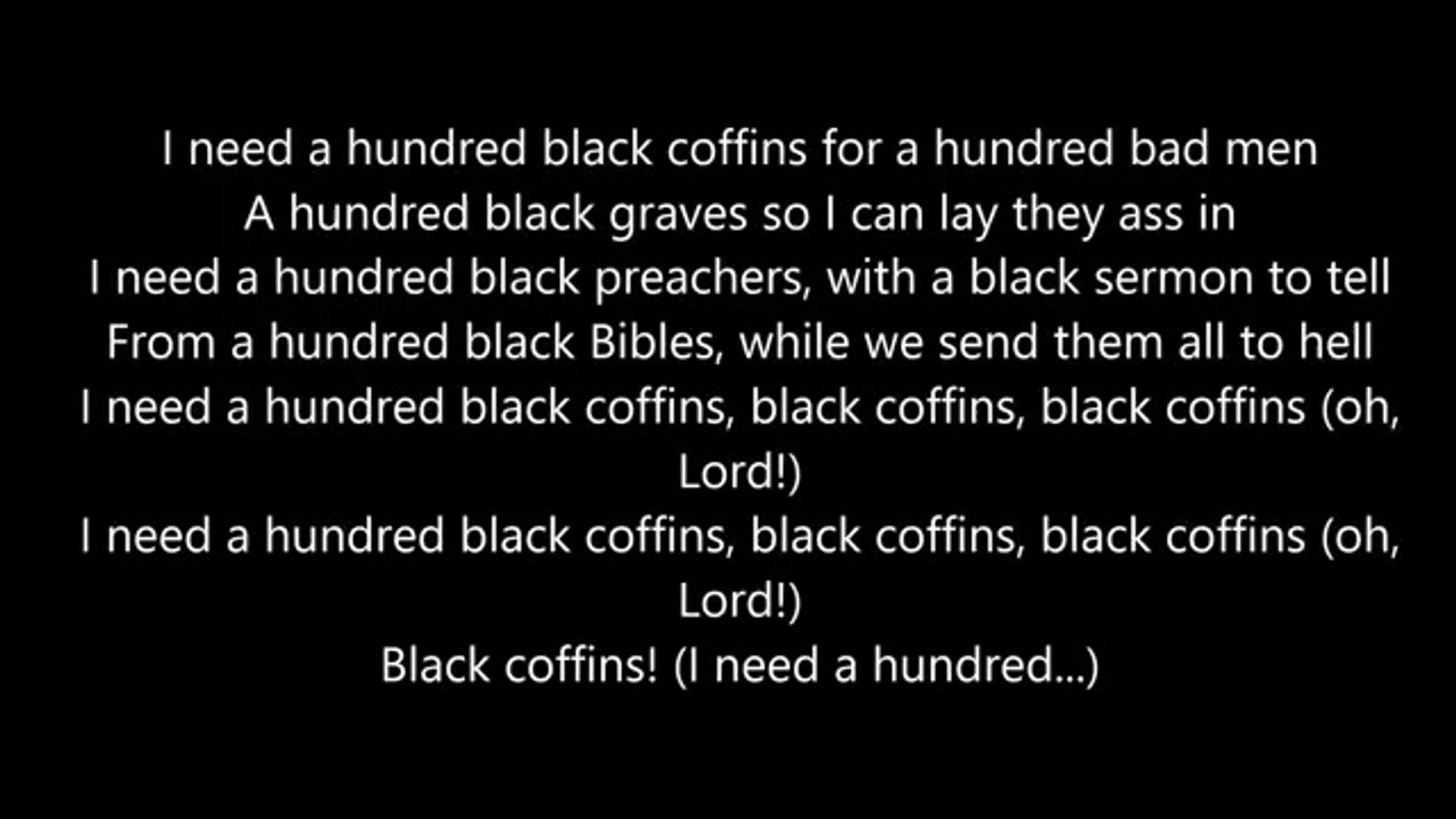Rick Ross -100 Black Coffins - Lyrics