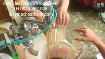 máy chiet rot mat ong, may chiet rot dich long 1 voi, may chiet rot ruou