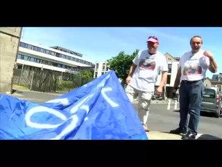Mobilisation à Saint-Brieuc devant le Conseil Général des Côtes d'Armor