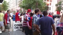 USA soccer fans celebrate World Cup victory