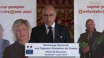 Discours de Bernard Cazeneuve à la Journée nationale des Sapeurs-pompiers