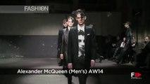 """ALEXANDER MCQUEEN"" Menswear Fashion Show Autumn Winter 2014 2015 London by Fashion Channel"
