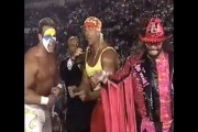 WCW World War 3 1995 Hulk Hogan, Randy Savage & Sting Promo