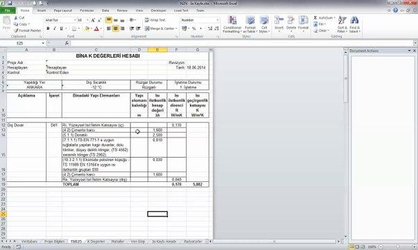 Ücretsiz Profesyonel TS825, Isı Kaybı Hesap ve Radyatör Seçim Yazılımı
