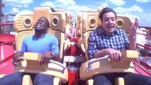 Jimmy Fallon et Kevin Hart dans des montagnes russes... Violent!