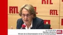 """VIDÉO - Une réforme territoriale pour """"mieux s'occuper des citoyens"""", promet Lebranchu"""