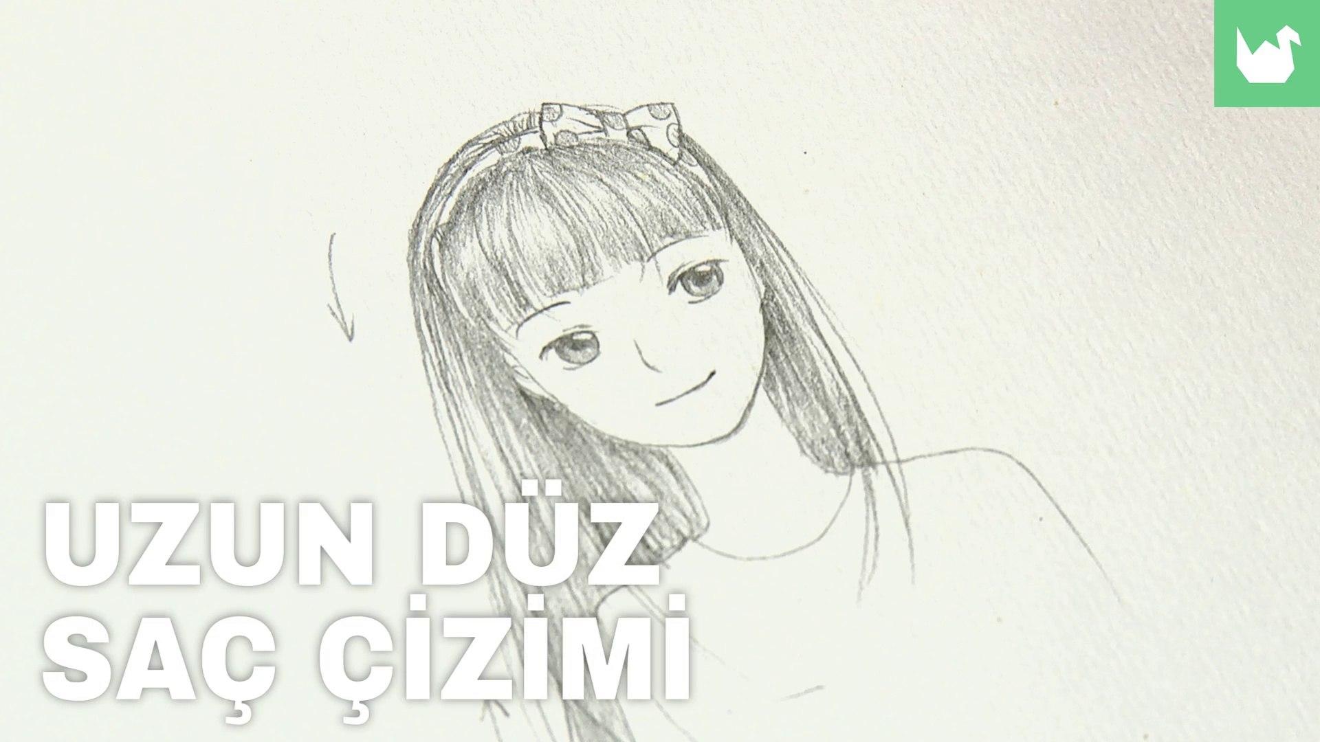 Manga Kız Saçı Çizimi
