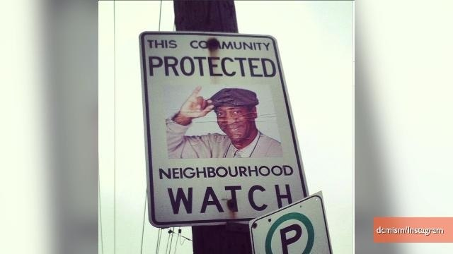 Toronto Neighborhood Watch Signs Altered to Feature Childhood Heroes