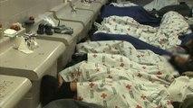 Unaccompanied migrant children held at border patrol facility