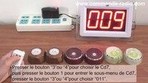 200M 1 Bouton Émetteur / Bouton d'Appel de Bureau Sans Fil Étanche