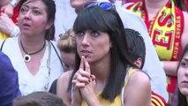 Mondial-2014: les supporteurs espagnols sous le choc à Madrid