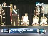 Felipe VI: Con mis palabras de hoy transmito a los españoles mi compromiso sobre el país