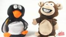 Peluches Pingouin et singe qui parlent