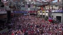 Slow Motion de l'Explosion de joie des fans de l'équipe de foot américaine après le but de dempsey.