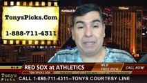 Oakland Athletics vs. Boston Red Sox Pick Prediction MLB Odds Preview 6-19-2014