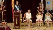 """Felipe VI proclama su """"fe en la unidad de España"""" en la que """"cabemos todos"""""""