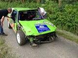 Brake Failure & HUGE RALLY CRASH!!! - Rallye Haute Senne 2014