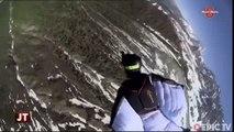 Sport extrême : Images de Wingsuit depuis l'Aiguille du Midi