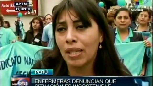 Enfermeras peruanas se manifestaron para exigir mejoras salariales