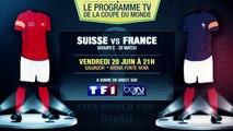 Suisse - France, Italie - Costa Rica... Le programme TV du jour !