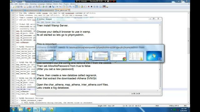 How to setup Ragnarok Online Private Server in Localhost Using Wamp