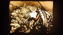 GALA DES MONARQUES talent incroyable de dessin de sable
