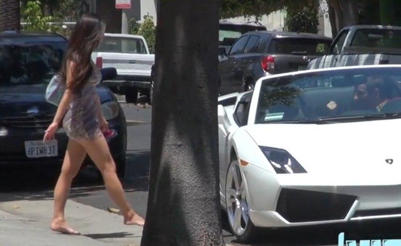 Lamborghini ile konuşmadan KIZ tavlama DENEMESİ