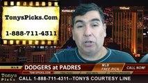 San Diego Padres vs. LA Dodgers Pick Prediction MLB Odds Preview 6-20-2014