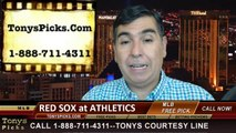 MLB Pick Oakland Athletics vs. Boston Red Sox Odds Prediction Preview 6-20-2014