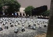Pandas Descend on Hong Kong