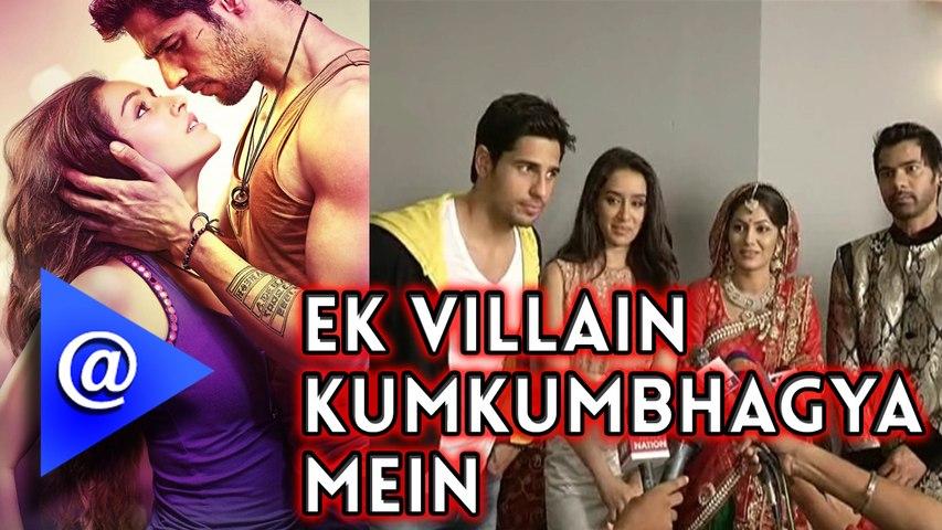 Ek Villan Star cast on the Sets of Kumkum Bahgya