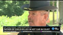 Dad charged in son's hot car death pleads not guilty