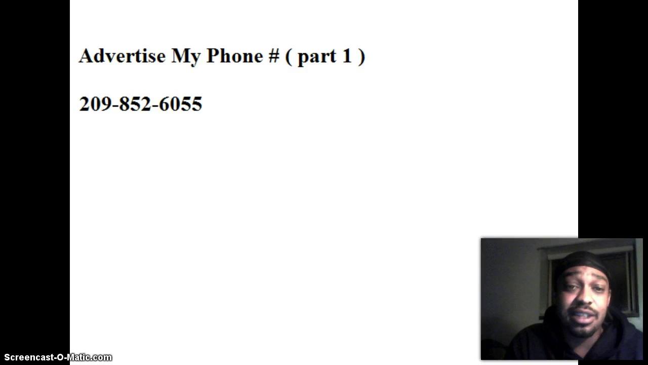 advertise my phone # (part 1)