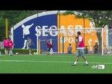 Alegria no treino das meninas do Brasil na véspera do jogo contra o Chile