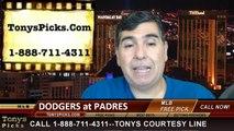 MLB Pick San Diego Padres vs. LA Dodgers Odds Prediction Preview 6-21-2014