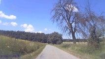Eine Fahrt über die badisch-bayerische Grenze im Odenwald von Steinbach nach Beuchen / A car ride across the Baden-Bavarian border in the Odenwald forest
