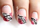French Manicure - French Tip Nail Art designs - cute glitter polish animal nail designs mani