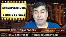 MLB Odds San Diego Padres vs. LA Dodgers Pick Prediction Preview 6-22-2014