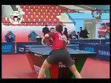 The most amazing trick shot ever seen in table tennis!