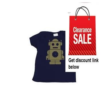 Cheap Deals Boy's Navy Blue Infant T-Shirt with Robot Design Review