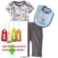 Cheap Deals Bon Bebe Baby-Boys Newborn Play Ball Bib Bodysuit Booties and Pant Set Review