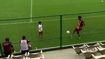 Ronaldinho Freestyle With 7 Years Old Boy