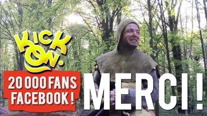 Guenièvre remercie nos 20.000 fans Facebook pour le bon moment qu'elle va passer.