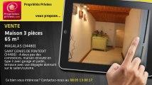 A vendre - maison - MAGALAS (34480) - 3 pièces - 65m²