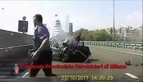 San Donato Milanese (MI) - In fuga a 170 all'ora uccidono architetto Paolo Armenise (13.06.14)