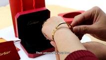 Copy Cartier Yellow Gold Love Bracelet 4 Diamonds B6035916 Cheap Prcie $90 New Version Top Quality Replica