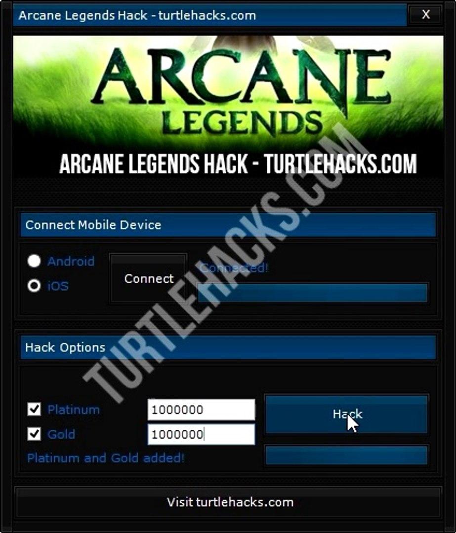 Arcane Legends Hack for Platinum and Gold
