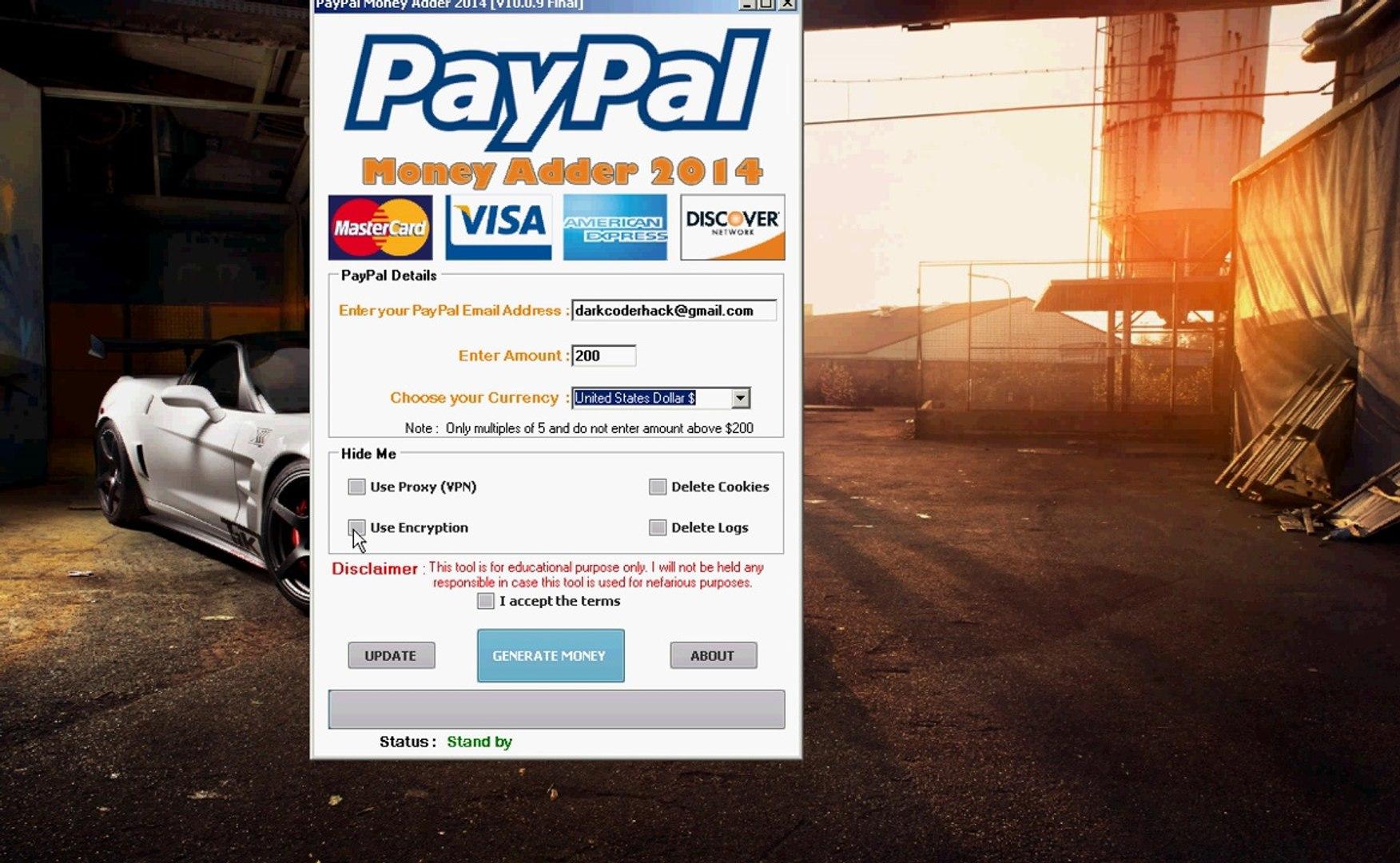 Paypal Money Adder [V10 0 9 Final] exe [No Survey Password][Free]