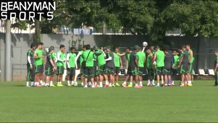 World Cup 2014 - Mexico Defender Miguel Layun Kicked & Hit By Mexico Squad During Birthday Gauntlet