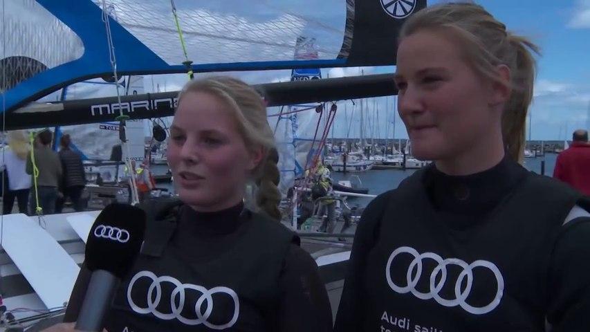 Kieler Woche 2014 - Ann-Kristin und Pia Sophie Wedemeyer, Portrait der Schwestern im 49erFX